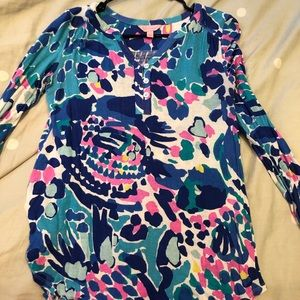 Lilly pulitzer long sleeve top sz XS